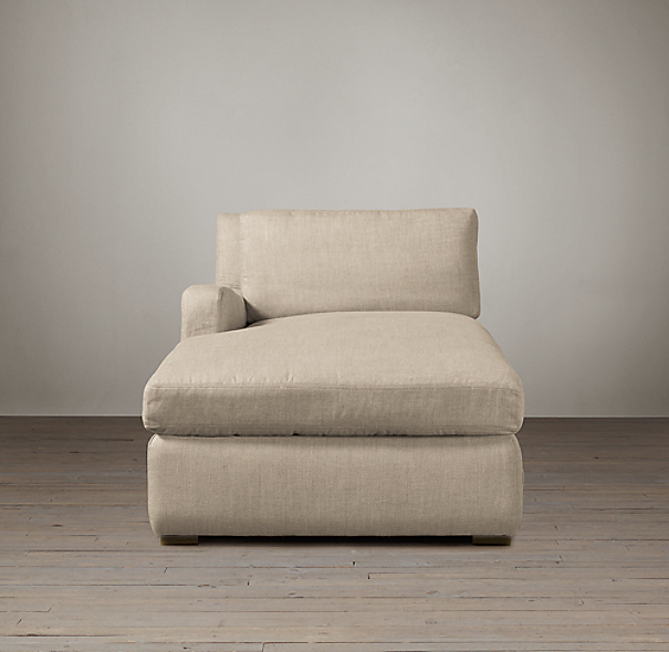 Belgian Slope Arm Upholstered Left-Arm Chaise