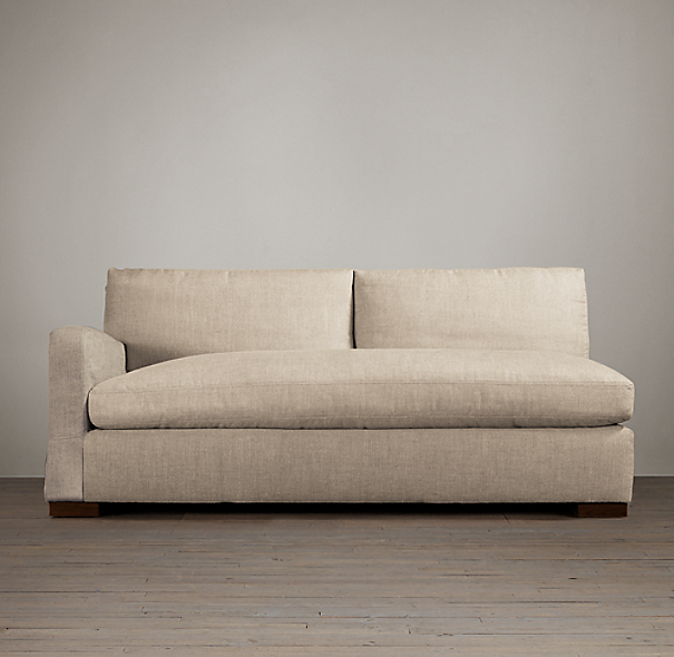 Belgian Slope Arm Upholstered Left-Arm Sofa