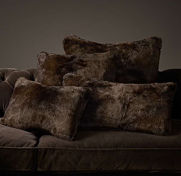 Luxe Faux Fur Pillow Covers - Sable