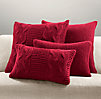 Italian Wool & Alpaca Knit Pillow Cover Collection - Garnet