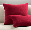 Italian Wool & Alpaca Ribbed Knit Lumbar Pillow Cover - Garnet