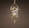 Convoy Pendant Small Antique Brass