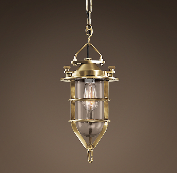 Convoy Pendant  Antique Brass