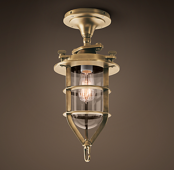 Convoy Flushmount Antique Brass