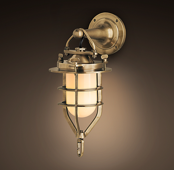 Convoy Sconce Small Antique Brass