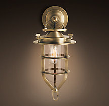 Convoy Sconce Antique Brass