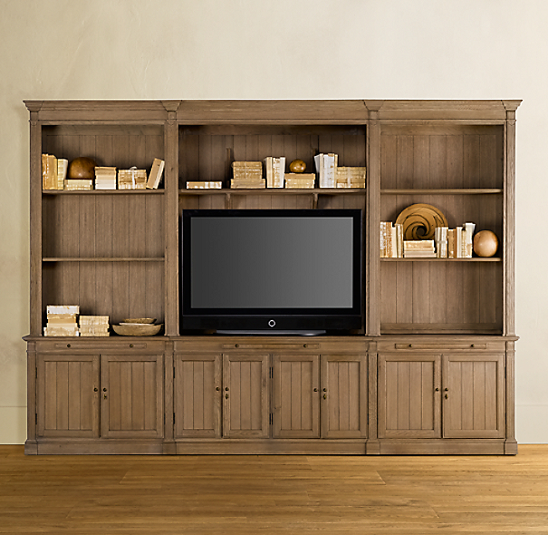 Medium Library Media System Brown
