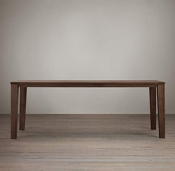 Parsons Tapered Leg Dining Table Brown