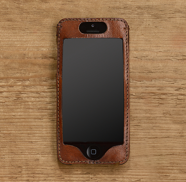 Artisan Leather iPhone® 5 Cover - Chestnut