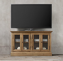 "54"" French Casement Media Console Glass Doors"