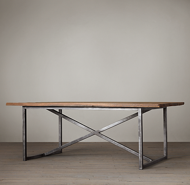 Salvaged Boatwood Rectangular Dining Table