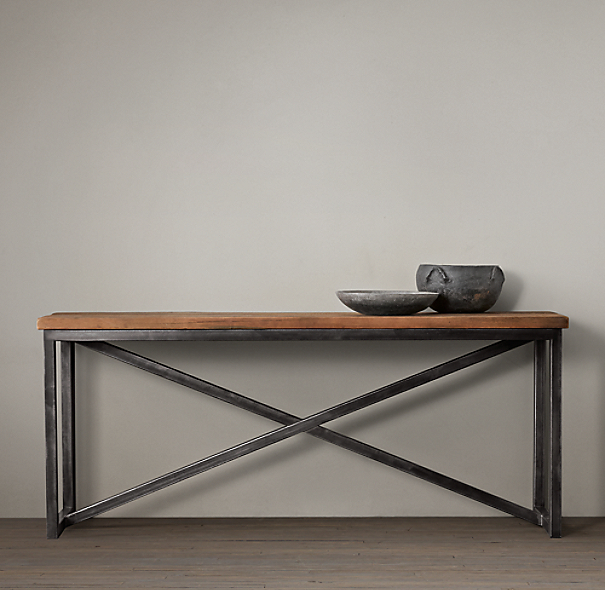 Salvaged Boatwood Console