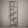 Vintage Industrial Staggered Shelving Tower