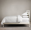 French Académie Iron Bed without Footboard Distressed White