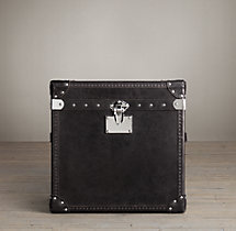 Mayfair Steamer Cube Trunk Old Saddle Black