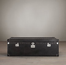 Mayfair Coffee Table Trunk Old Saddle Black