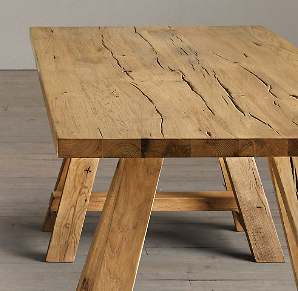 Trinity Reclaimed Russian Oak Dining Table