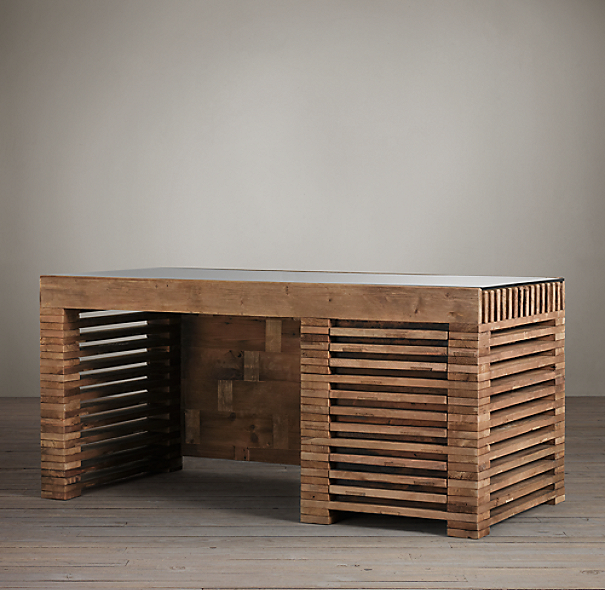 Reclaimed Timber Slat Desk