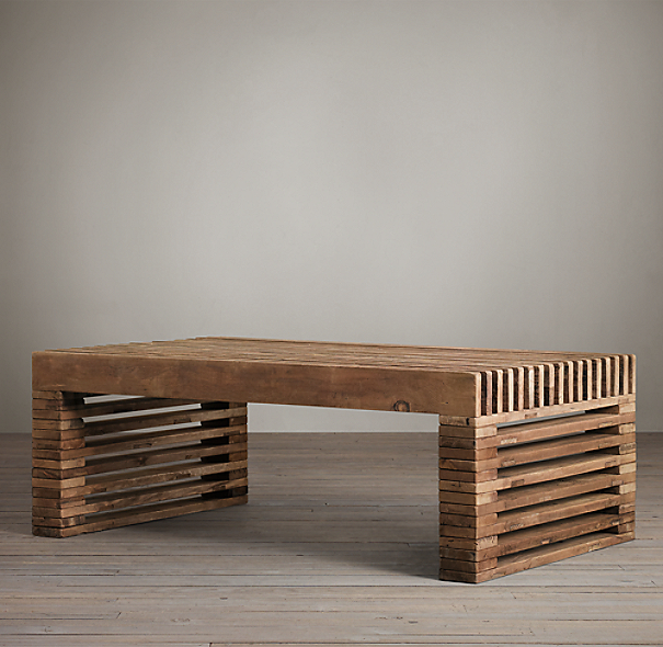 Reclaimed Timber Slat Coffee Table