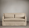 5' Belgian Classic Slope Arm Slipcovered Sofa