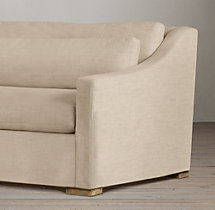 5' Belgian Classic Slope Arm Upholstered Sofa