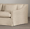 7' Belgian Classic Slope Arm Slipcovered Sleeper Sofa