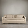 8' Belgian Classic Slope Arm Slipcovered Sleeper Sofa