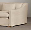 7' Belgian Classic Slope Arm Upholstered Sleeper Sofa