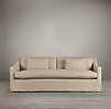 7' Belgian Classic Slope Arm Slipcovered Sofa