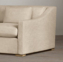 7' Belgian Classic Slope Arm Upholstered Sofa