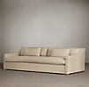 9' Belgian Classic Slope Arm Upholstered Sofa