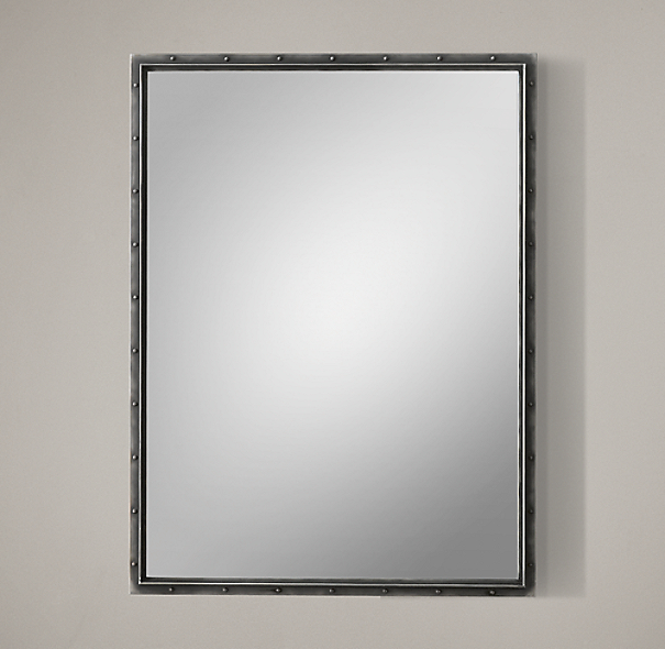 Antiqued Riveted Mirror