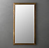 English Aged Brass Leaner Mirror