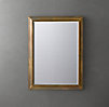 English Aged Brass Mirror
