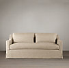 6' Belgian Classic Slope Arm Slipcovered Sofa