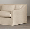 8' Belgian Classic Slope Arm Slipcovered Sofa