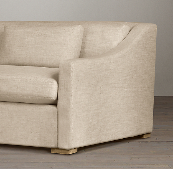 Belgian Classic Slope Arm Upholstered Sofas