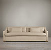 8' Belgian Classic Slope Arm Upholstered Sofa