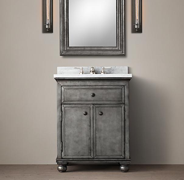 Zinc Powder Room Vanity Sink
