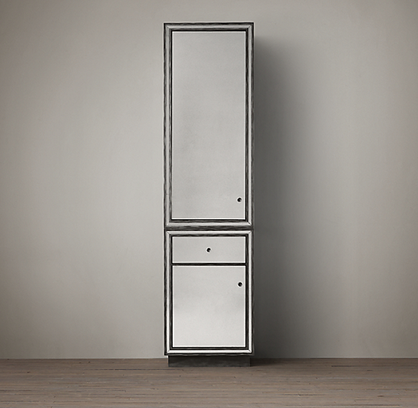 Strand Mirrored Tall Bath Cabinet