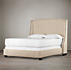"Warner Nailhead Upholstered 68""  Bed without Footboard"