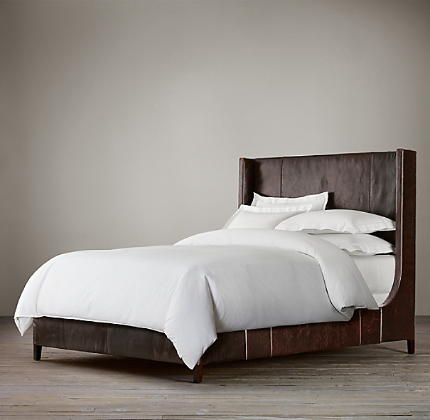 Grayson Leather Sleigh Bed without Footboard