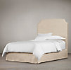 "Belgian Slipcovered Slope 68"" Headboard with Bed Skirt"