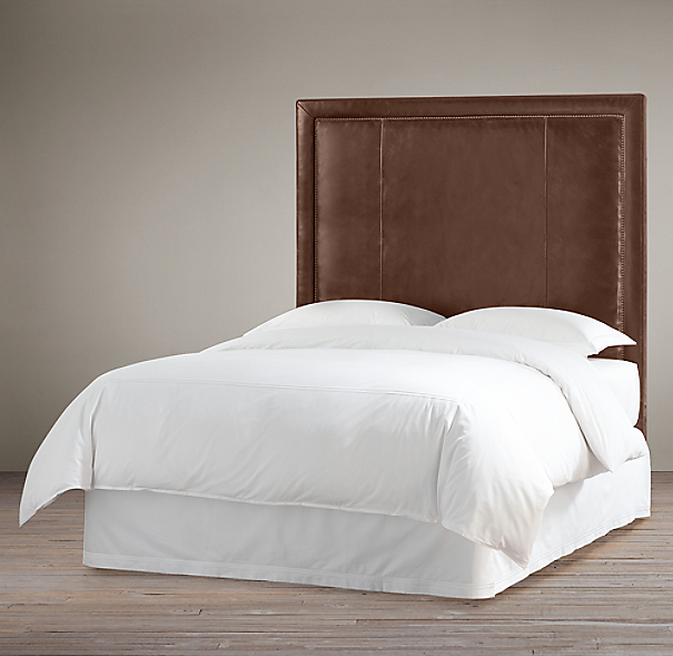 Wallace Leather Headboard With Nailheads
