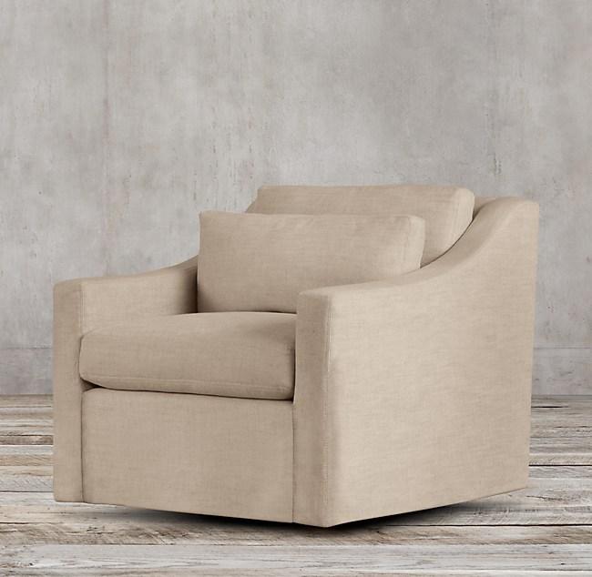 Belgian Classic Slope Arm Swivel Chair