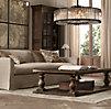 5 Belgian Camelback Slipcovered Sofa