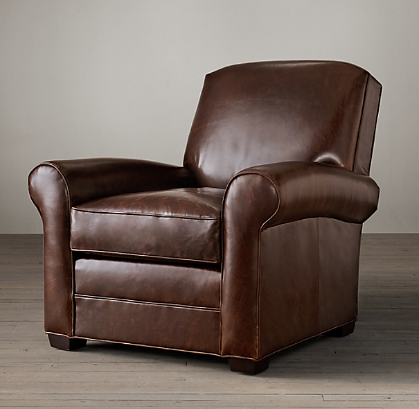 Lowell Leather Club Chair