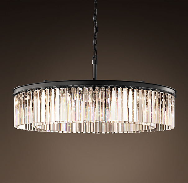 Rhys Clear Glass Prism Round Chandelier 43 Quot