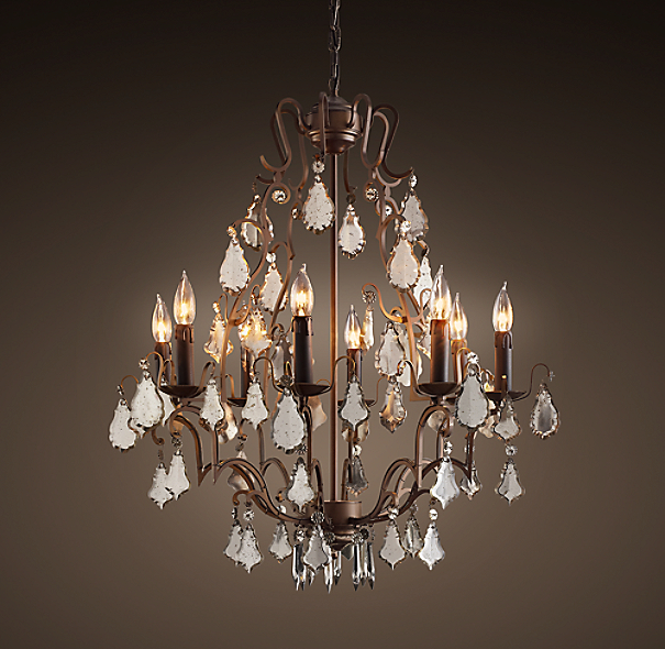 Florian Mercury Glass Chandelier Small