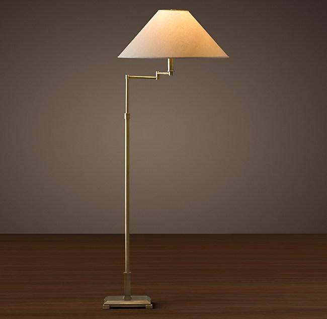 Classic Candlestick Swing Arm Floor Lamp